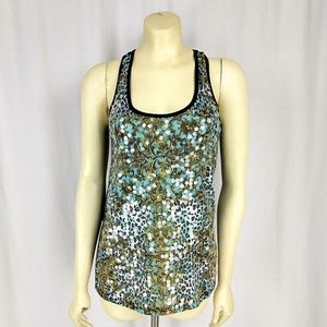 🌸 SALE 🌸 Sequined tank top green black